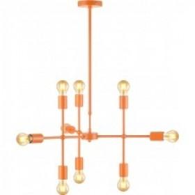 Pendente Moderno Estrutura Articulável em Aço Laranja Hash 9 Lampadas - Avant