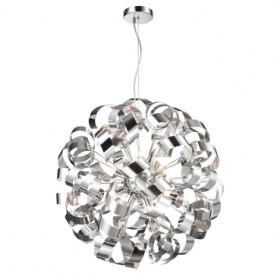 Pendente de Aço Cromado 12 Lâmpadas +Luz Iluminação