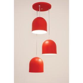Pendente Sevilha 3 Lâmpadas Vermelho - Auremar
