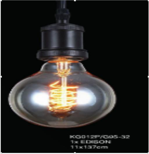 Pendente de Filamento Thomas Edison Retro Rustico 1 Lâmpada 220v