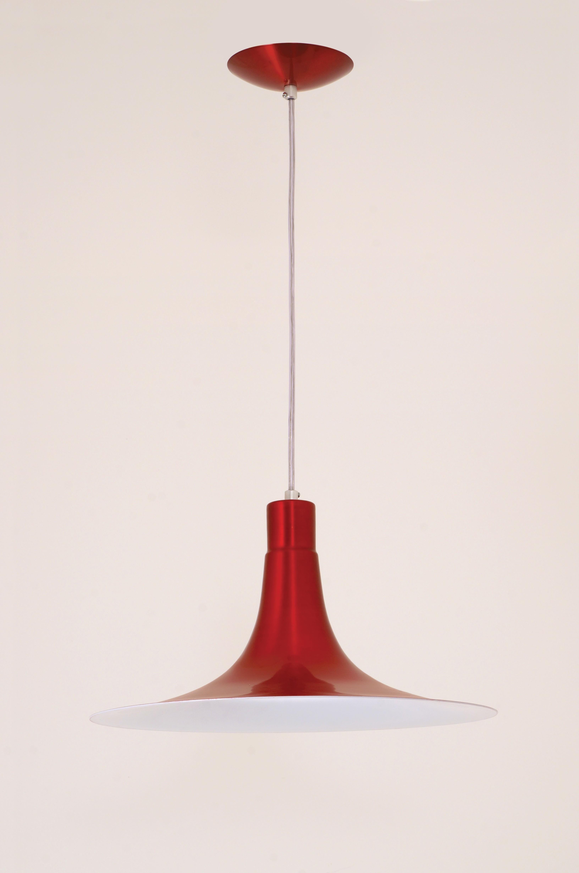Pendente Mallorca 1 Lampada Vermelho Verniz - Auremar
