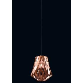 Pendente de Madeira Cobre 01 lâmpada