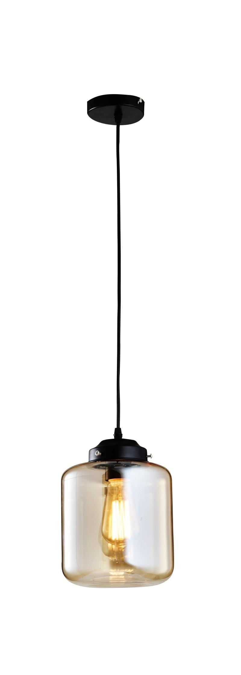 Pendente de Vidro com 1 lâmpada de Filamento Retro Thomas Edison Baleiro -110v