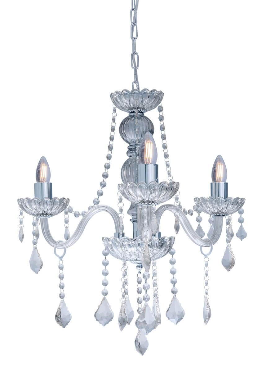 Lustre de Cristal Transparente 3 Lâmpadas Nice - Startec
