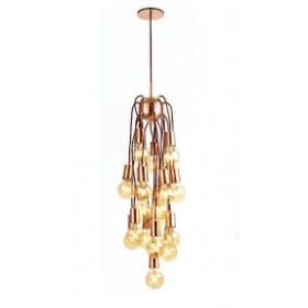 Pendente Moderno Com Fios de Cobre Vertical 25 Lampadas - Old Artisan