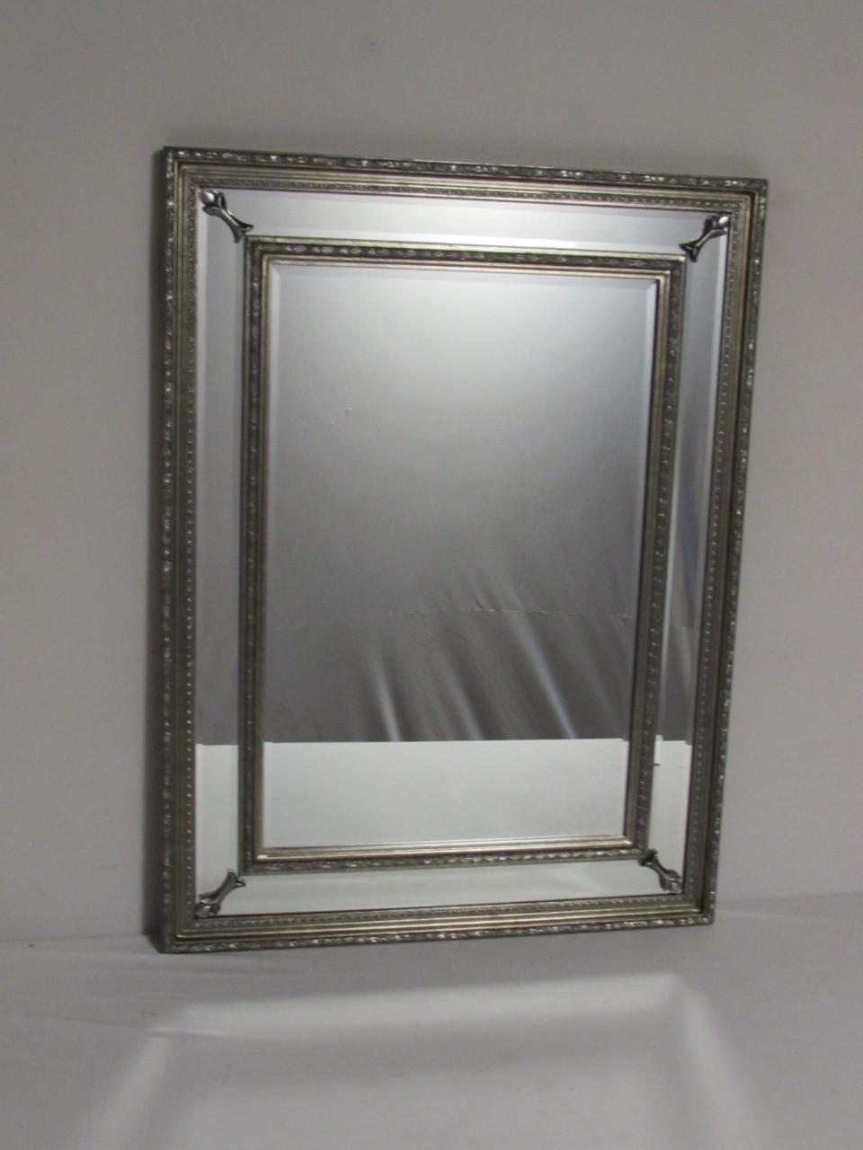 Espelho Retangular Prata com Detalhes - Frontier