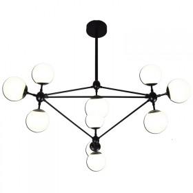 Pendente Moderno Spheres Preto 10 Lâmpadas - Pier