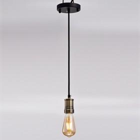 Pendente Thomas Edison de Metal Bronze 1 Lâmpada