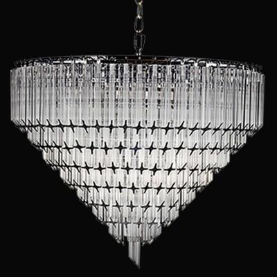 Lustre de Cristal Transparente Opus 6 Lampadas - Bella