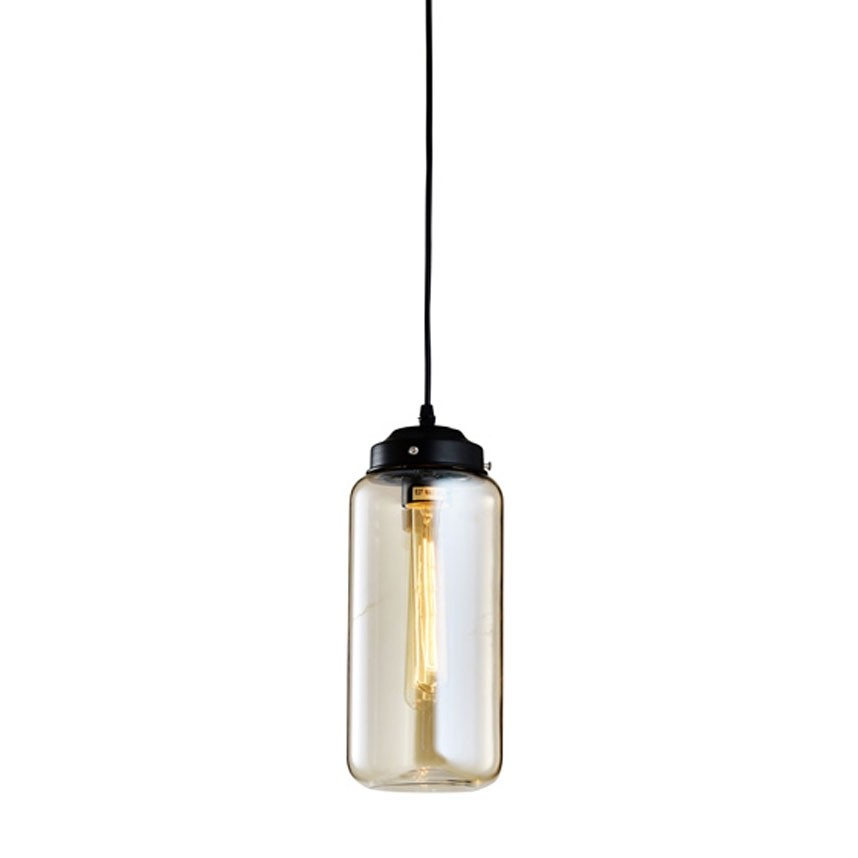 Pendente de Vidro Fratelli Filamento Retrô 1 Lâmpada Thomas Edison