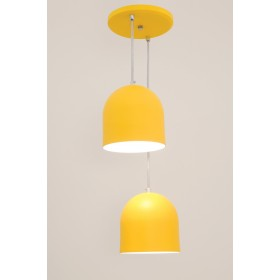 Pendente Sevilha 2 Lâmpadas Amarelo - Auremar