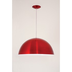 Pendente Bilbao Med 1 Lampada Vermelho Verniz - Auremar