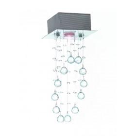 Plafon de Cristal Inox 1 Lâmpada HY