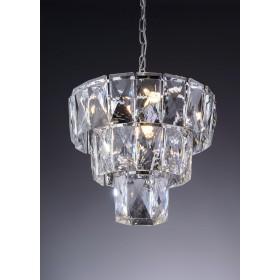 Lustre de Cristal Cromado 5 Lâmpadas LED Fasano - Startec