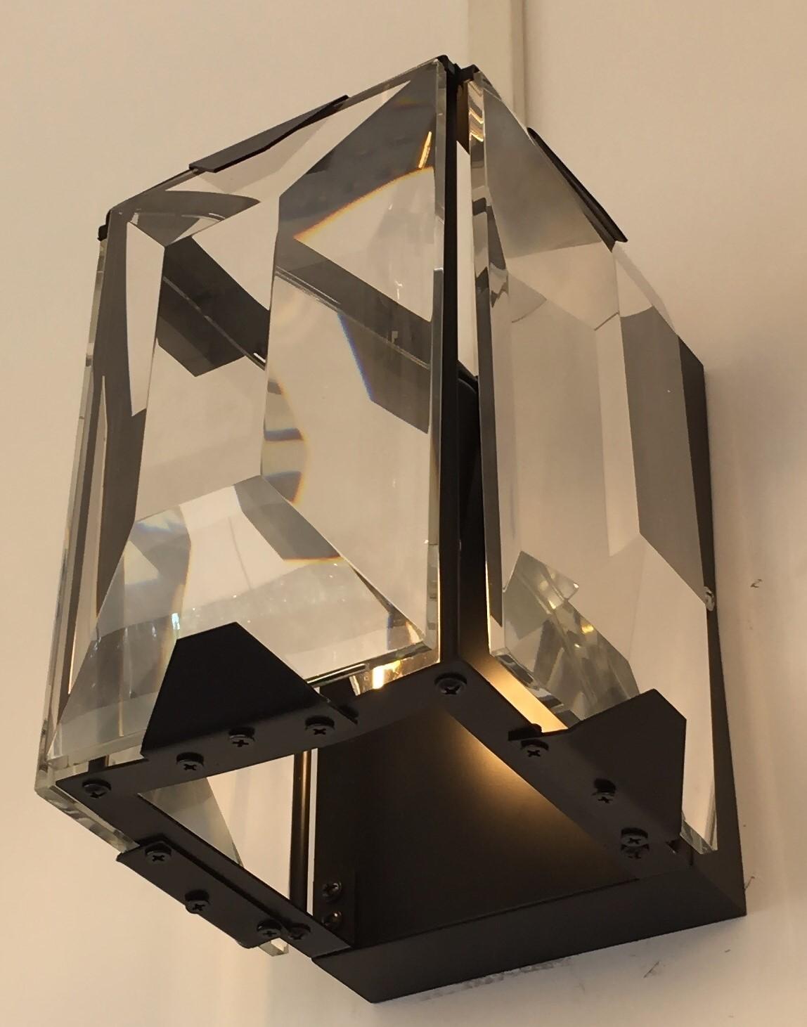 Arandela Cristal Cromada 1 Lâmpada - Sindora