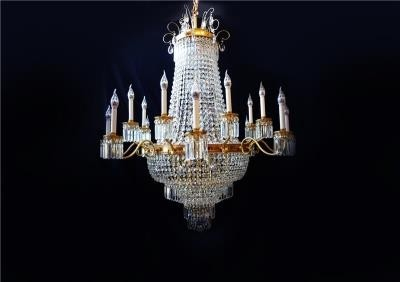 Lustre Imperial de Bronze com Cristal 29 Lâmpadas - Frontier