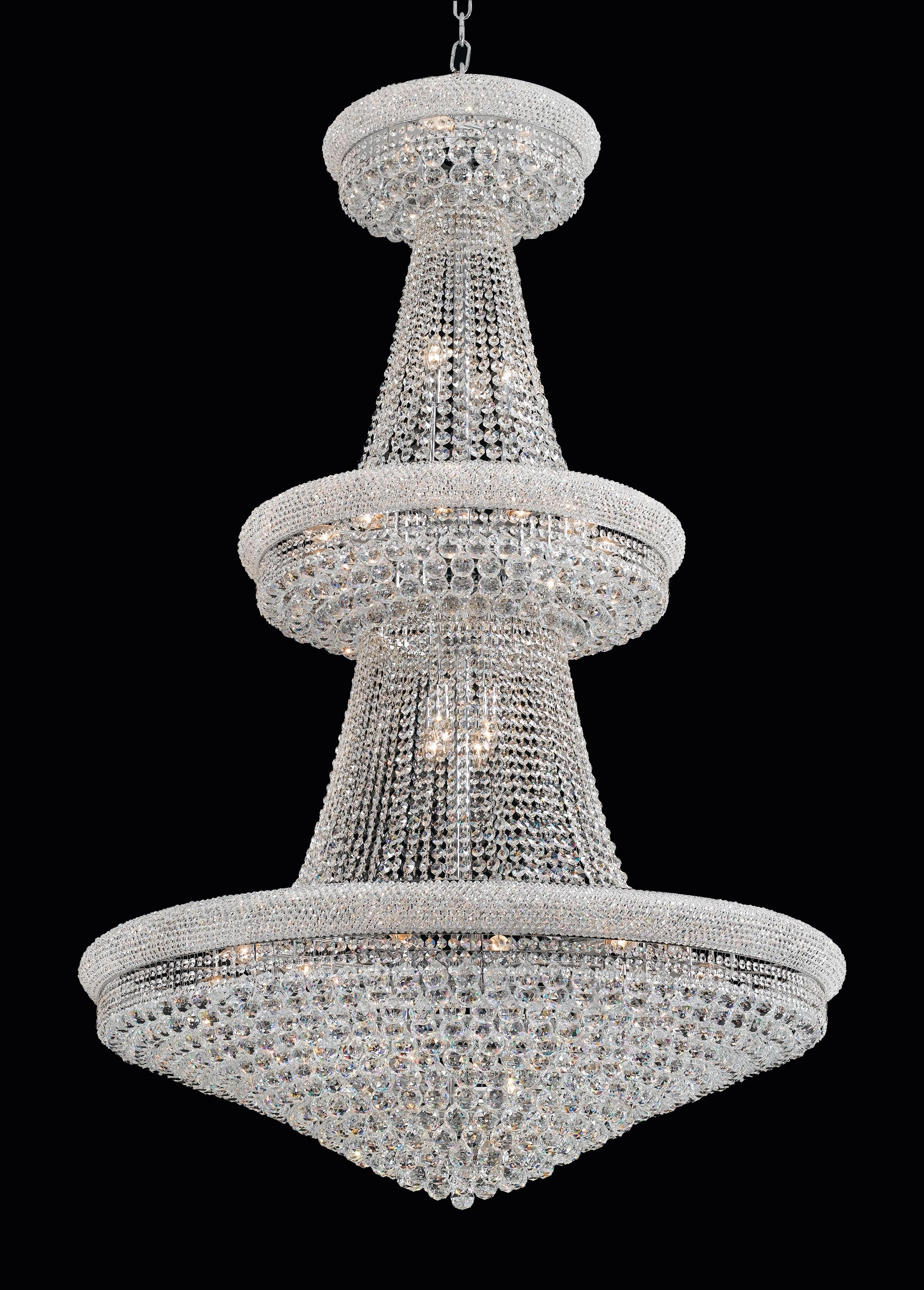 Lustre de Cristal Transparente Imperial 23 Lâmpadas Donatela Home Design Pier