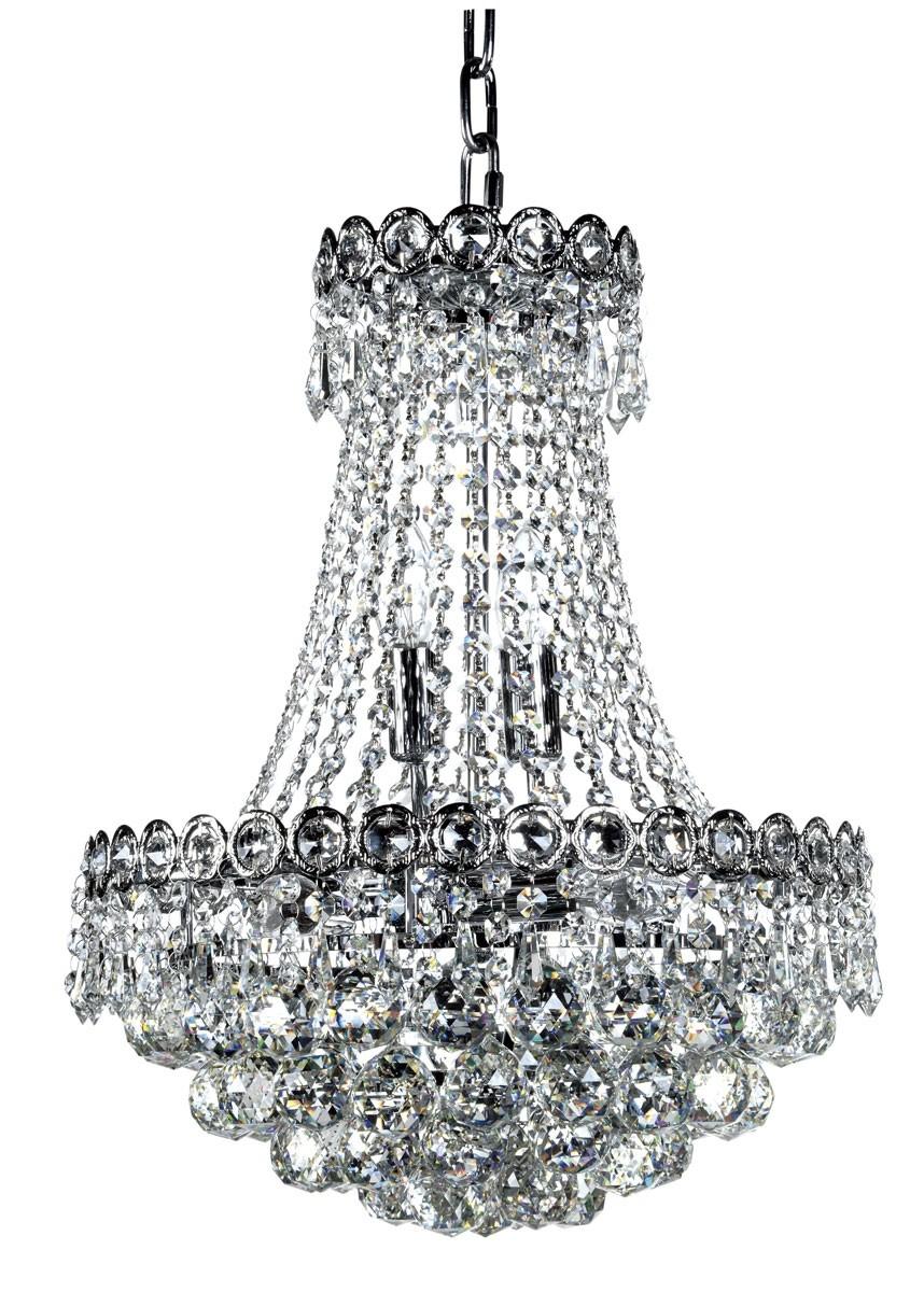 Lustre de Cristal Transparente 6 Lâmpadas FT Elizabeth