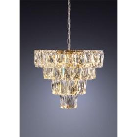 Lustre de Cristal Dourado 9 lâmpadas LED Fasano - Startec