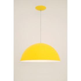 Pendente Bilbao Med 1 Lampada Amarelo - Auremar