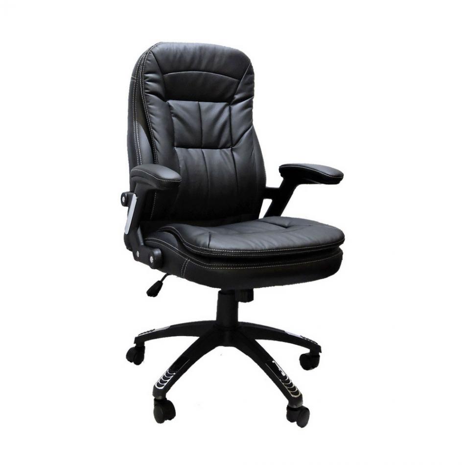 Cadeira Presidente Base Giratória Preta Relax Confort - Desingchair