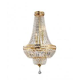 Lustre de Cristal Fontana DT Dourado 5 Lâmpadas