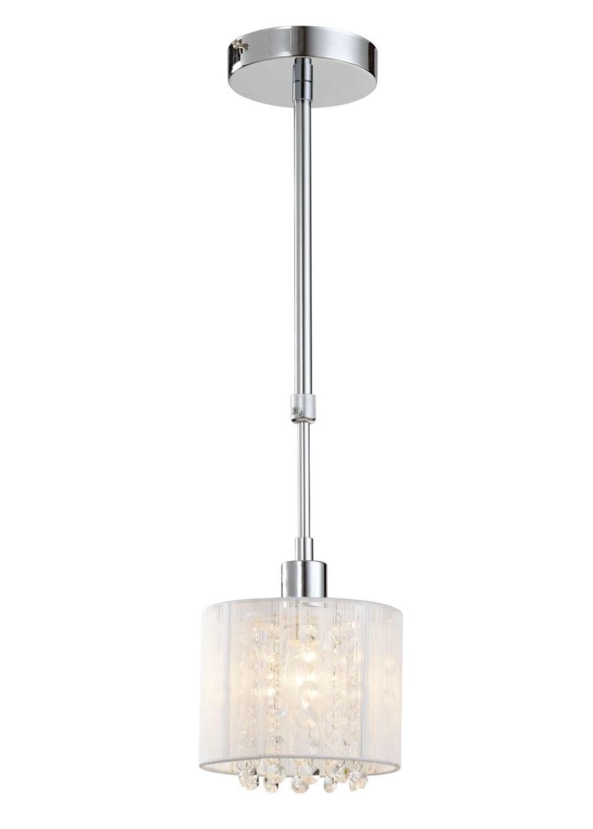 Pendente de Cristal 1 Lâmpada Branco SR