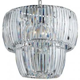 Pendente Cristal Blink Metal Cromado 4 Lâmpadas - Pier
