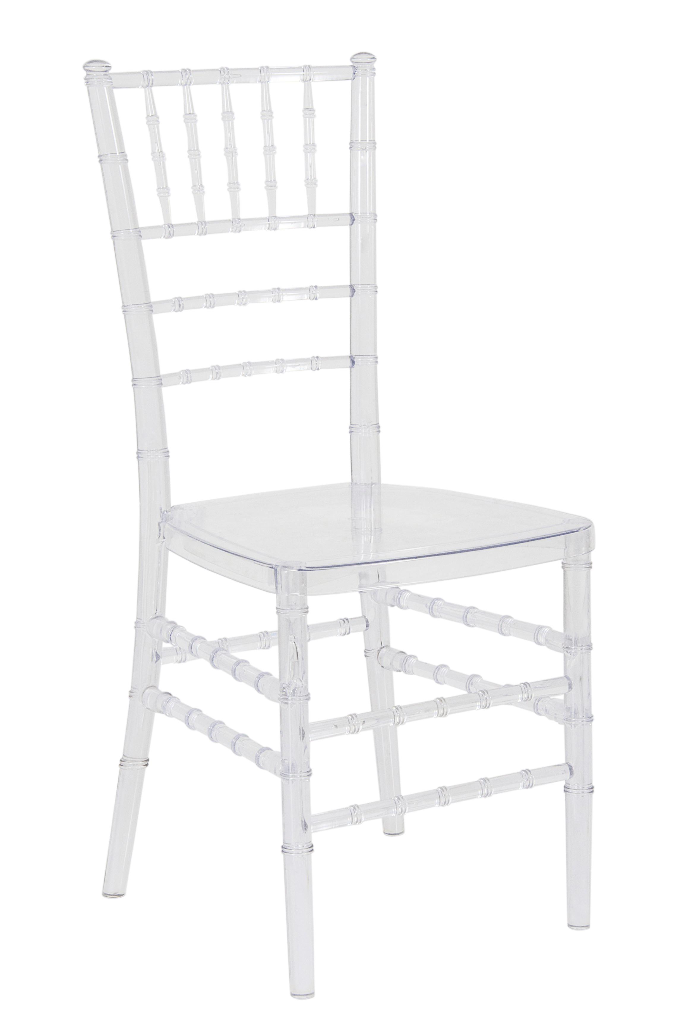 Cadeira Cristal Policarbonato Tiffany Sem Almofada Transparente