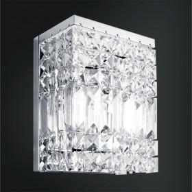 Arandela Laila Cristal Lapidado 1 Lâmpada - Goldenart