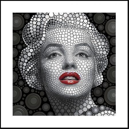 Quadro em 3D Marilyn Monroe