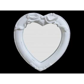 Espelho de Coração branco - frontier