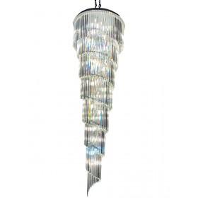 Lustre de Cristal Transparente 26 Lâmpadas AD