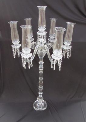 Castiçal de Cristal Transparente de 7 Velas - Frontier