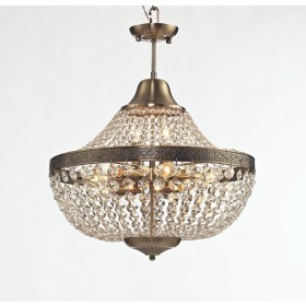 Lustre Royal Metal Cromado com Cristais Transparentes 11 Braços sem Corrente - Tupiara