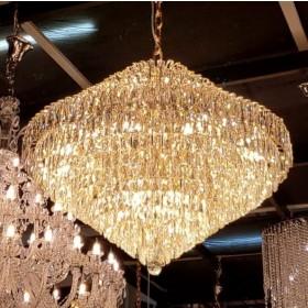 Lustre Moderno de Cristal Transparente Acabamento em Metal Rose God 22 Lâmpadas - Frontier