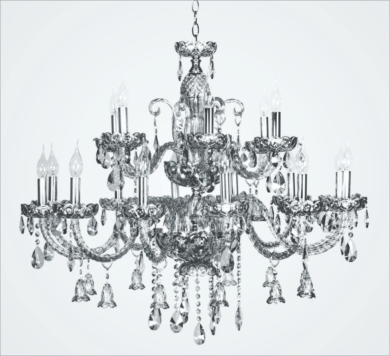 Lustre Candelabro de Cristal Transparente Buckingham 18 Braços - Tupiara