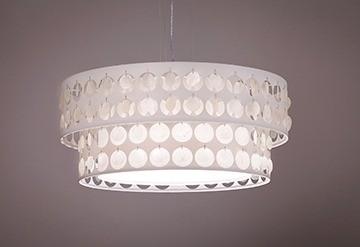 Pendente Madrepérola Duplo Grande 4 Lampadas - Tom Luz Iluminação
