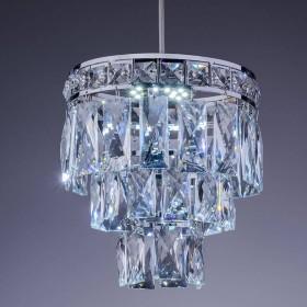 Lustre de Cristal Florença Mini 7 Lâmpadas Cromado - Startec