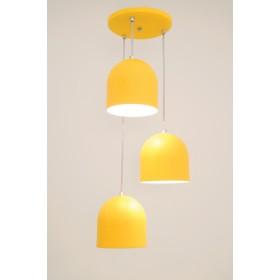 Pendente Sevilha 3 Lâmpadas Amarelo - Auremar