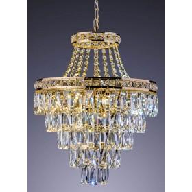 Lustre de Cristal Florença 9 Discos de LED Dourado - Startec