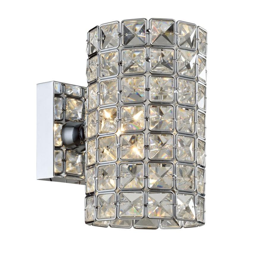 Arandela de Cristal Transparente 1 Lâmpada LX lI