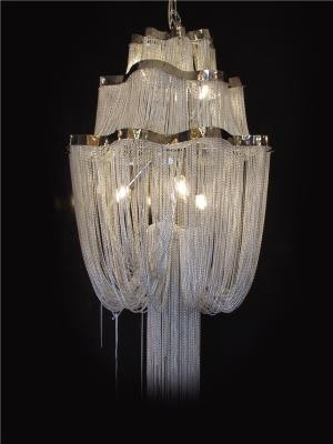 Lustre Moderno de Cristal Transparente 6 Lâmpadas - Frontier