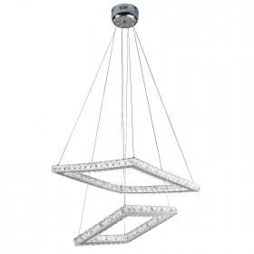 Pendente Quadrado de Cristal 35 Lâmpadas de Led Embutido Net