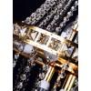 Lustre de Cristal Dourado 12 Lâmpadas FG Elizabeth