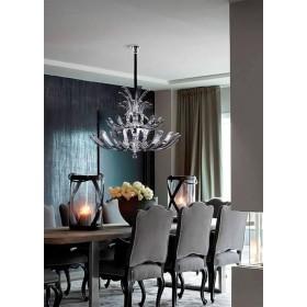 Lustre de Cristal Metal Cromado Transparente 11 lâmpadas Napoli - Mantra