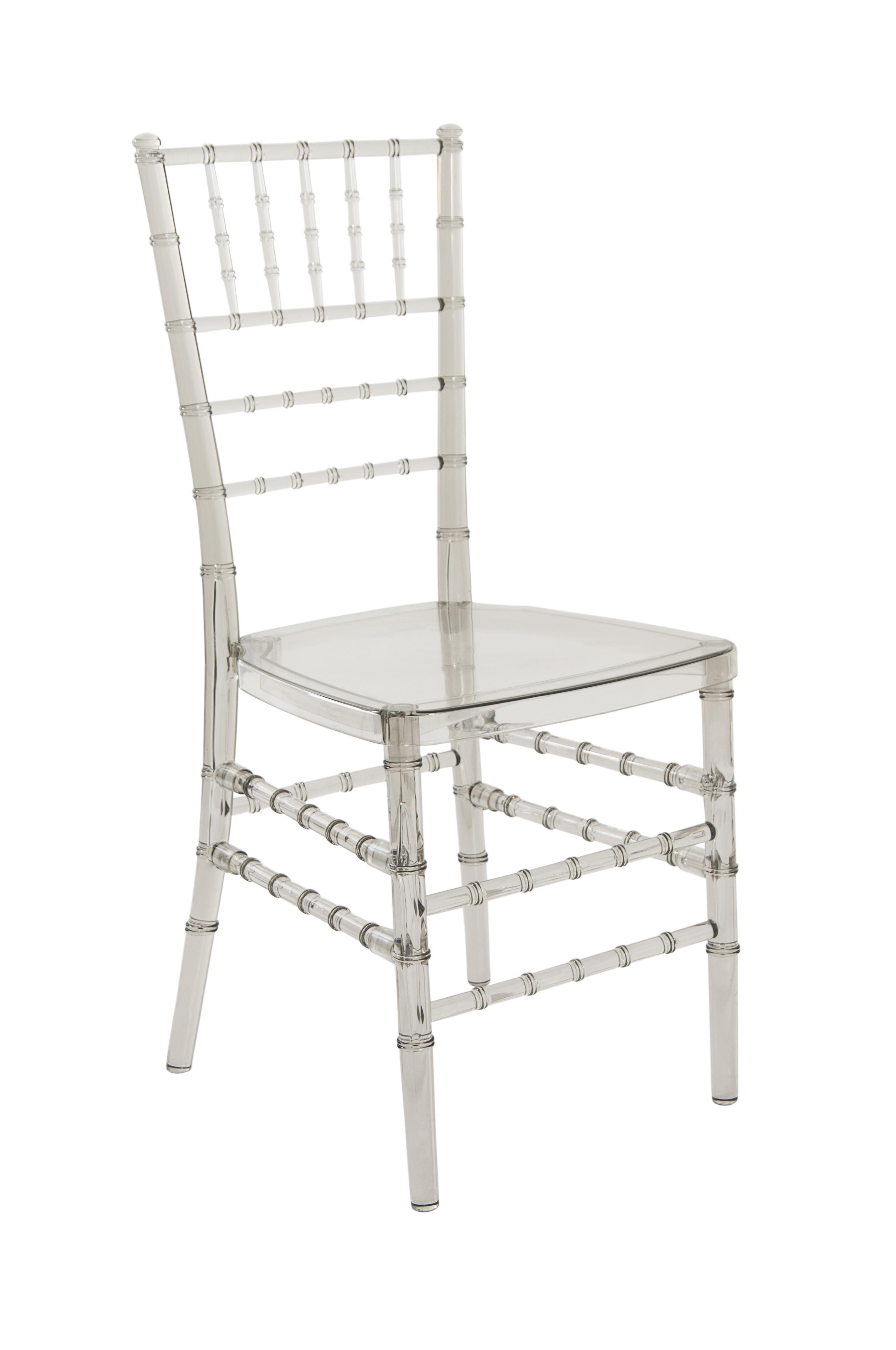 Cadeira Cristal Policarbonato Tiffany Sem Almofada Caramelo Escuro
