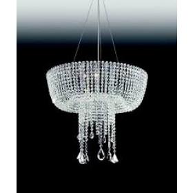 Pendente Moderno de Cristal Transparente e Estrutura Redonda 11 Lâmpadas - Old Artisan