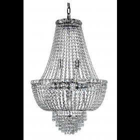 Lustre de Cristal 12 Lâmpadas Transparente FG Elizabeth