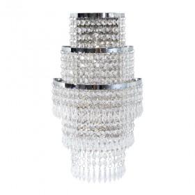 Arandela Trevo Aluminio cristal 1 Lâmpada - Goldenart